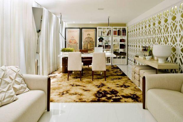 Biombo Mentha Lace_pet branco Projeto Marcio Correa  Dupla Arquitetura Estratégica